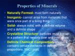 properties of minerals1