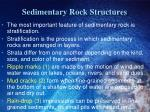 sedimentary rock structures