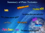 summary of plate tectonics