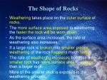 the shape of rocks