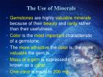 the use of minerals1