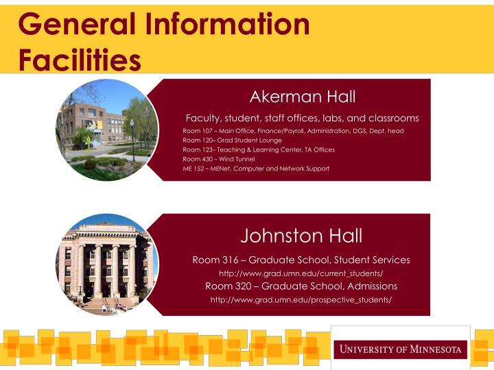 General information facilities