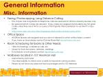 general information misc information