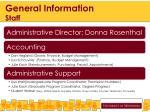 general information staff