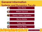 general information systems and dynamics f aculty