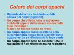colore dei corpi opachi