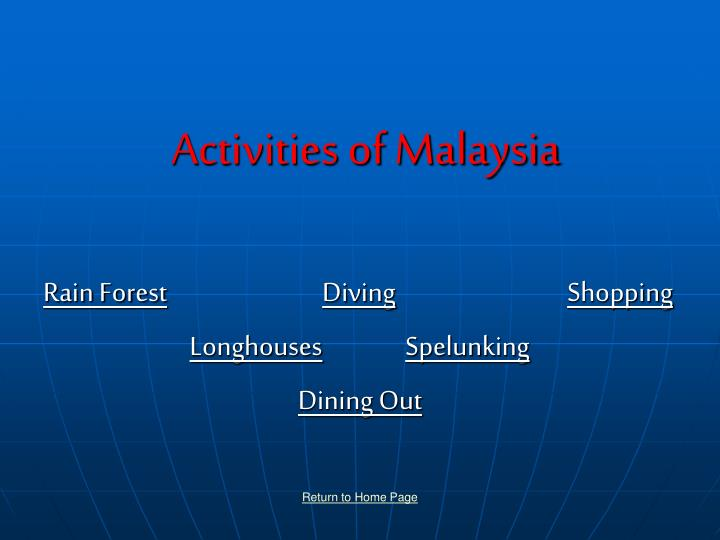 activities of malaysia n.