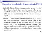 comparison of methods for data correction in hts 1
