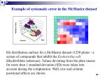 example of systematic error in the mcmaster dataset