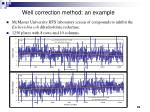 well correction method an example
