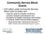 community service block grants