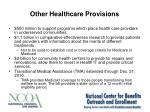 other healthcare provisions