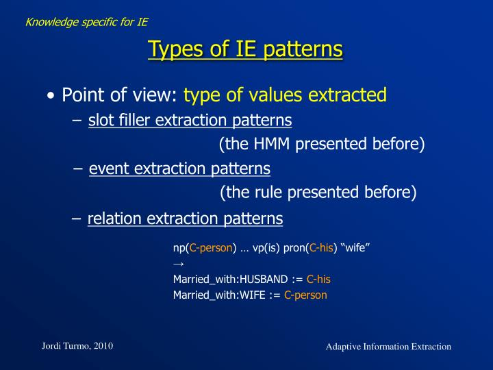 relation extraction patterns