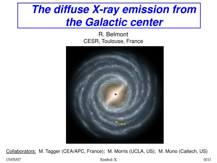 the diffuse x ray emission from the galactic center n.