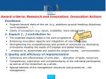 award criteria research and innovation innovation actions