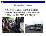 additional bus service