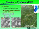 disaster typhoon aere
