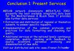 conclusion 1 present services