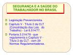 seguran a e a sa de do trabalhador no brasil