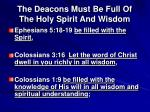 the deacons must be full of the holy spirit and wisdom3