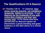 the qualifications of a deacon3
