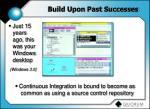 build upon past successes