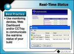 real time status