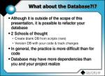 what about the database