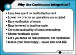 why use continuous integration
