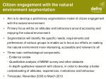 citizen engagement with the natural environment segmentation