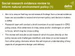 social research evidence review to inform natural environment policy 1