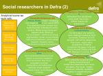 social researchers in defra 2