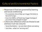 cultural and environmental factors