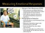 measuring emotional responses