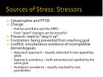 sources of stress stressors