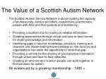 the value of a scottish autism network
