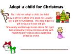 adopt a child for christmas