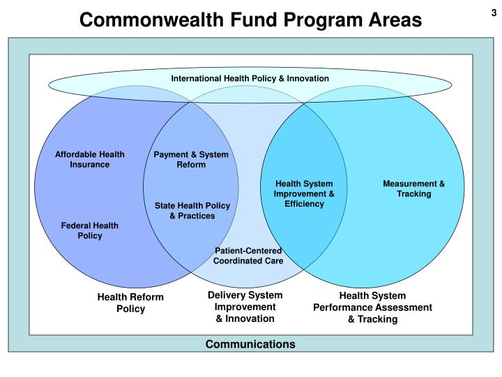 Commonwealth fund program areas