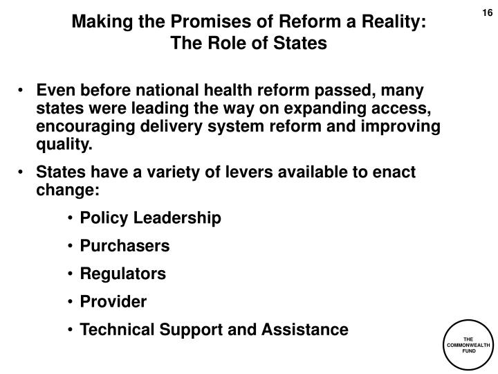 Making the Promises of Reform a Reality: