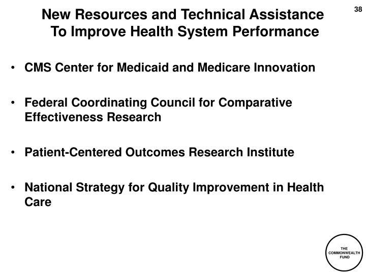 New Resources and Technical Assistance