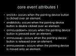 core event attributes i
