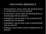 core events attributes ii