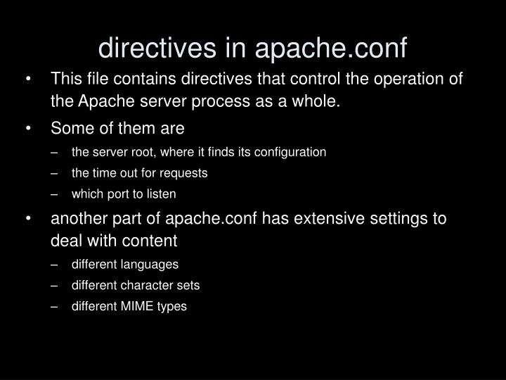 directives in apache.conf