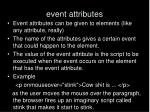 event attributes