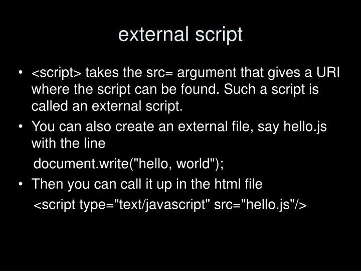 external script
