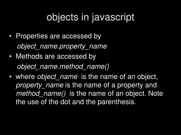 objects in javascript