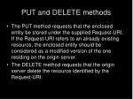 put and delete methods