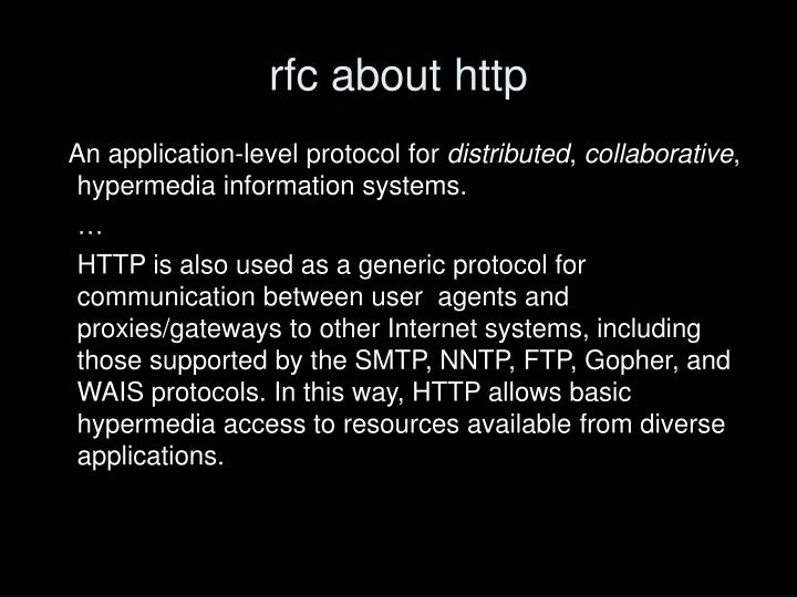 rfc about http