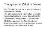 the system of zakat in brunei
