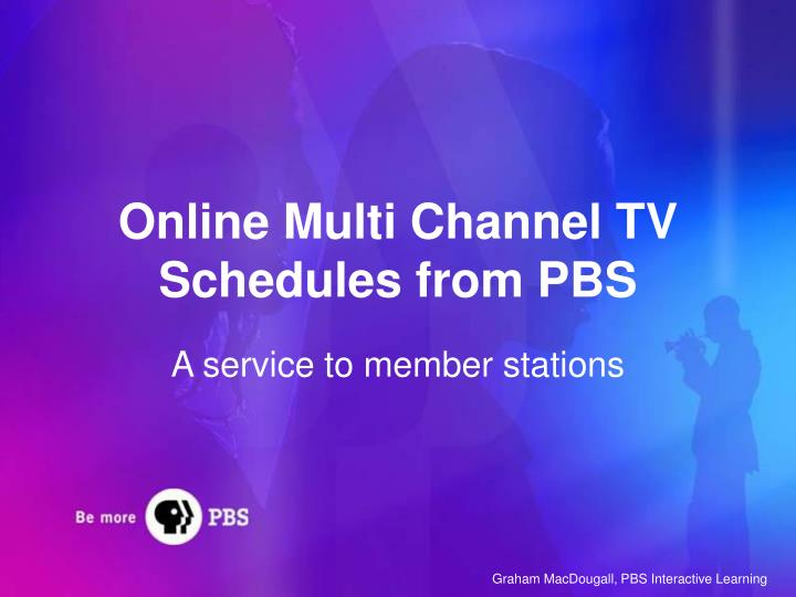 online multi channel tv schedules from pbs n.